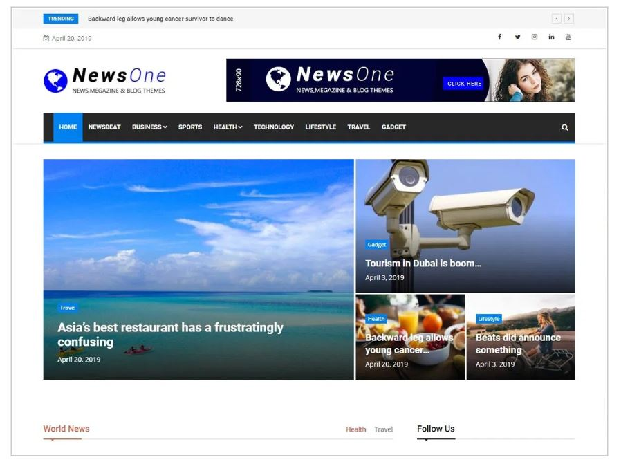 News One theme