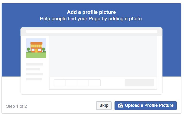 Create Page in Facebook