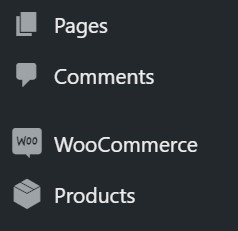 products in wordpress